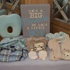 Newborn Boy 10 piece Clothes Bundle